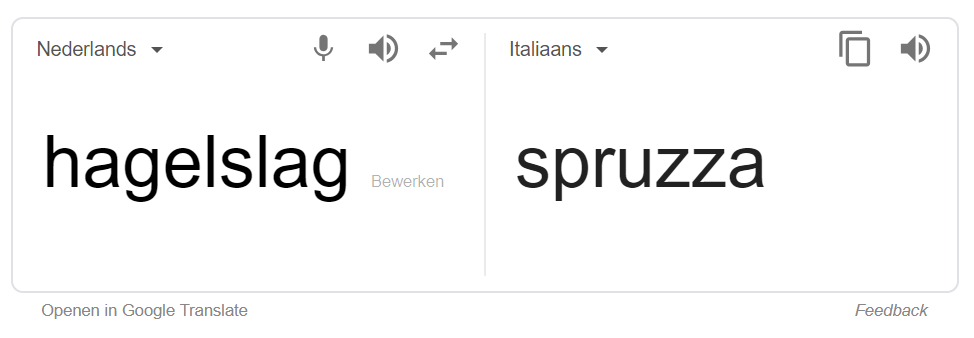google translate spruzza